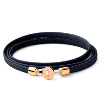 Armband Nexus Wrap Bracelet Gold Vermeil Polished S Navy Blue