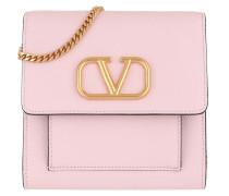 Umhängetasche V Logo Crossbody Bag Leather Rose Quartz