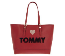 Honey EW Tote Embroidered Red