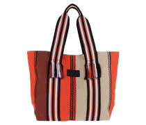 Shopper Tote Bag Aby Natural Stripes Multi