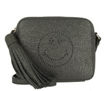 Smiley Bag Anthracite Crinkled Metallic silber