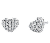 Ohrringe MKC1119AN040 Pave Heart Stud Silver