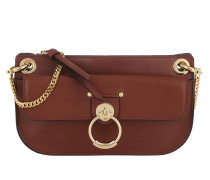 Umhängetasche Small Crossbody Bag Shiny Calfskin Sepia Brown