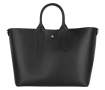Tote Large Handbag Calfskin Black/Natural