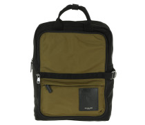 Kent Packable Cargo Backpack-Tote Black/Military Rucksack grün