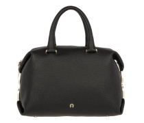 Roma Leather Tote Black