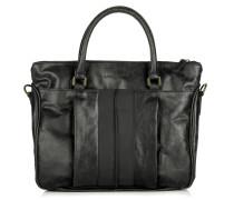 Tasche - Paula B Glossy Metallic Suede Black