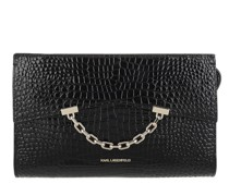 Satchel Bag Seven Croco Clutch Black