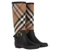 Simeon Belted Rain Boots Housecheck Black Schuhe beige|Simeon Belted Rain Boots Housecheck Black Schuhe schwarz