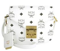 Patricia Visetos Shoulder Bag Mini White Umhängetasche gold