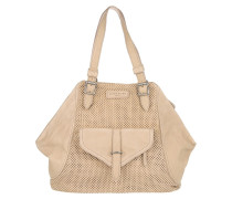 Sacha Nabuck Lasercut Vintage Light Powder Tote