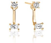 Ohrringe Antella Ear Jackets White Zirconia 18K Gold Plated