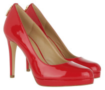 Antoinette Pump Patent Bright Red Pumps