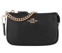 Nolita Wristlet 15 Pebble Light Gold/Black Pochette schwarz