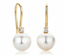 Ohrringe 18KT Earrings with Diamonds and Pearls