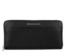 Kleinleder - Mercer Pocket Zip-Around Continental Wallet Leather Black - in schwarz - Kleinleder für Damen