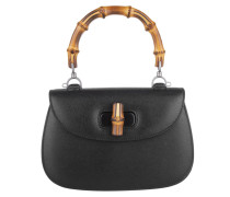 Tasche - Bamboo Classic Leather Top Handle Satchel Black