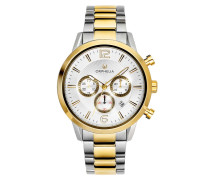 Uhr Mens Chronograph Watch Tempo Silver/Gold