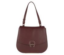 Pina M Shoulder Bag Burgundy Satchel