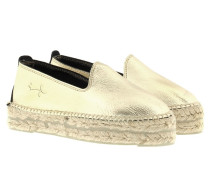 Espadrilles - Los Angeles Laminated Leather Espadrilles Platinum