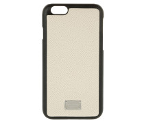 iPhone Case 6 Vitello Stampa Dauphine Avorio Handy Hülle beige