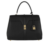 Satchel Bag 16 Medium Grained Calfskin Black