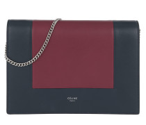 Frame Evening Clutch on Chain Steelblue/Plum