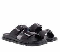 Slipper & Pantoletten Men Wainscott Buckle Slide Sandal Leather