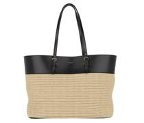 Tote Boucle Shopping Bag Raffia Leather Natural/Black