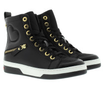 Sneakers - High Top Sneaker Heart Black