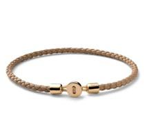 Armbänder Nexus Leather Bracelet Gold Vermeil Polished S