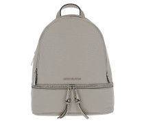 Rhea Zip Backpack Silver Pearl Grey Rucksack
