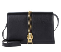 Tasche - Small Zip Front Shoulder Bag Black