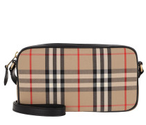Umhängetasche Small Vintage Check Camera Bag Black