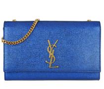 Classic Monogramme Medium Satchel Bag Blue Umhängetasche
