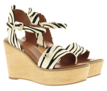 Sandalen - Kleia High Wedge Sandal Pony/White