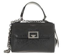 Satchel Bag Small ID Top Handle Calfskin Black