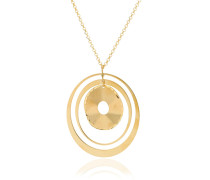 Halskette Chain With Pendant Satin Gold
