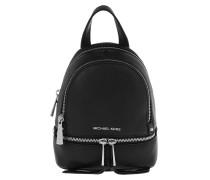 Rhea Zip Messenger Backpack XS Black Rucksack