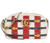 GG Marmont Camera Bag Trompe-L'Oeil-Print White weiß