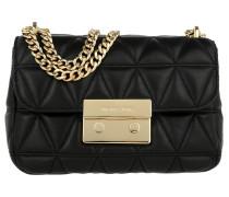 Sloan SM Chain Shoulder Bag Black/Gold Umhängetasche
