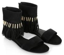 Sandalen - Jessa Fringe Sandal Suede Black