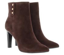 Eleni II Ankle Boot Suede Dark Brown Schuhe braun