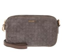 Tasche - Leandra Shoulder Bag S Velluto Stampa Dark Grey