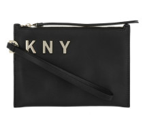 Logo Small Wristlet Clutch Black