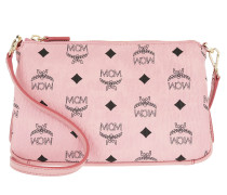 Millie Visetos Medium Top Zip Umhängetasche Bag Soft Pink gold
