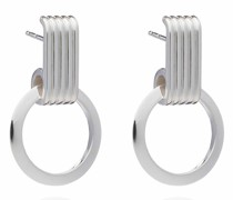 Ohrringe Eternity Circle Silver Hoop Earrings