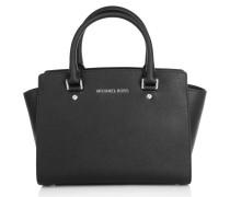 Tasche - Selma MD TZ Satchel Black - in schwarz - Henkeltasche für Damen