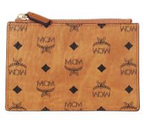 Portemonnaie Mini Monogram Visetos Original Key Wallet Cognac
