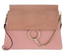 Faye Shoulder Bag Smooth+Suede Washed Pink Umhängetasche
